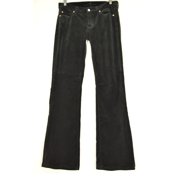 7 For All Mankind Denim - 7 for all Mankind jeans 27 x 32 velveteen black sl